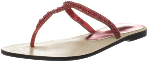 Unze Evening Slippers, Damen Slipper Rot (L18338W)