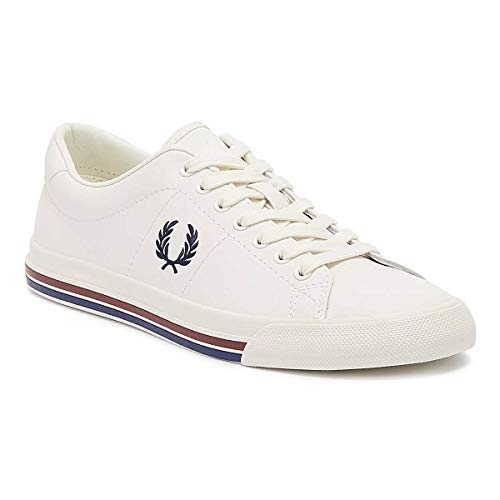 Fred Perry Underspin Leather Homme Baskets Mode Blanc