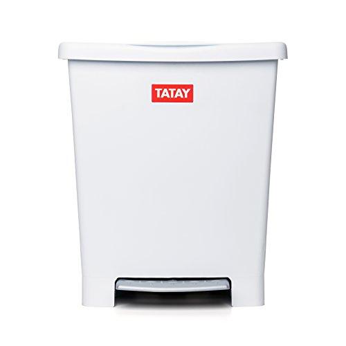 TATAY 1101401 - Millenium Cubo de Basura Cocina con Apertura a Pedal, 23 l de Capacidad, Plástico Polipropileno...
