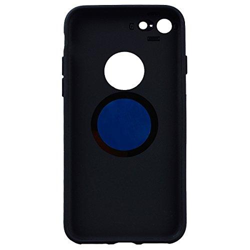 SMART LEGEND iPhone 7 Handyhülle mit Magnetische Auto Mount Weiche Silikon Hülle Eingebaute Magnet für KFZ Halter Autohaltung Schutzhülle Matte Bumper Crystal Kirstall Clear Etui Ultra Slim Design Gla Gold