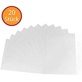 JPC Schrumpfplastik 20x30cm weiß 7 Blatt Schrumpffolie shrink