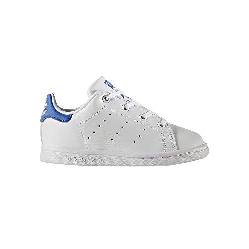 Chaussures Stan Smith bébé Blanc/Bleu - adidas Originals Blanc