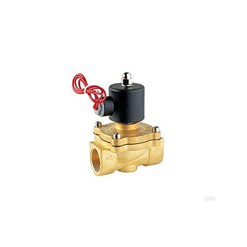 24v-gas-ventil (Gogo High Qualität 2Way 2W messing Air Gas Wasser kupfer Magnetventil 1/5,1cm 24V DC Normalerweise schließen Draht Blei Typ Ventil)