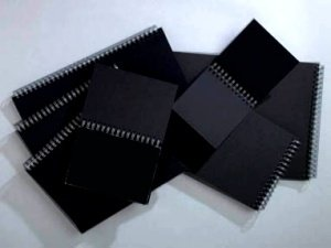 Winsor & Newton 6668233 Skizzenblock mit schwarzem Papier, 40 Blatt - schwarz, 180 g/m², DIN A4