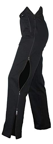 Stautz® Reha-Hose mit patentiertem Doppelreißverschlusssystem für alle mit Verletzungen oder Einschränkungen an den Beinen (20, Schwarz)