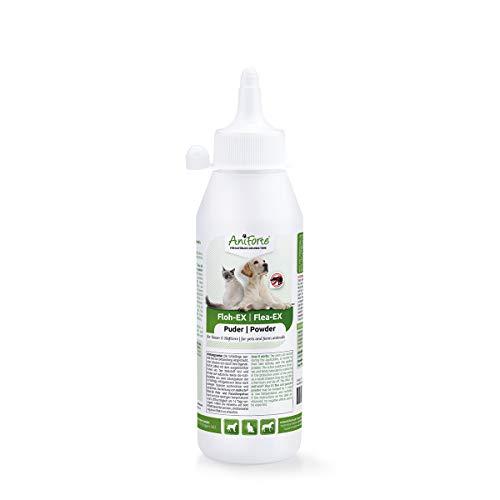 AniForte Floh-EX Pulver 250 ml für Hunde, Katzen, Pferde, Haus- und Hoftiere, Natürliche Abwehr gegen Flöhe und Floh-Befall