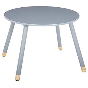 Runder Holztisch für Kinder – Farbe GRAU