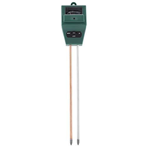 Rapitest Ph-meter (Zerodis Bodentester 3 in 1 Boden Hygrometer Sonnenlicht Feuchtigkeit Boden Analysator PH Messgerät für Pflanzen Wachstum Rasenpflege Gartenbau)