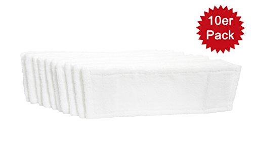 10x MicroBattery ofase rmöppe pour Budget et industrielles | Bonnettes de nettoyage professionnel pour 40cm mopph âge | Housse Housses pour | jusqu'à 90° et pour sèche-linge