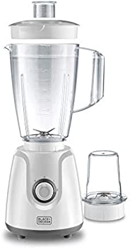 Black+Decker 400W Blender With Grinder Mill, White, BX4030-B5, 2 Year Warranty