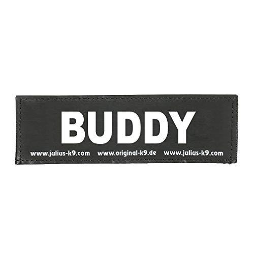Julius-K9 162LR-G-28727 Klettaufschrift, BUDDY, schwarz