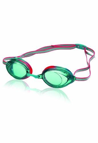 Speedo Jr. Vanquisher 2.0 Swim Goggles, Turquoise Tye-Dye, One Size - Jr Goggles Speedo