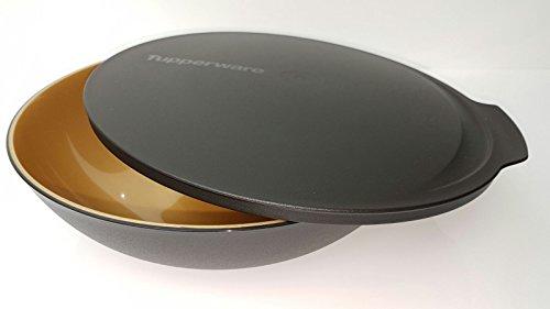 tupperware-allegra-bol-bol-avec-couvercle-noir-dore-noel-15-l-salade-buffet-acier-brillant