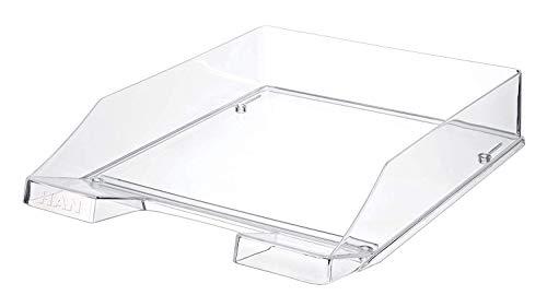 HAN Briefablage KLASSIK 1026-X-23  in Transparent-Glasklar / Hochwertige, stapelbare Ablage im modernen Design / Für Briefe & Papiere bis Format A4-C4, 6 Stück