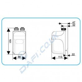 Instant Dafi Water Heater 5.5 kW Dafi flexible