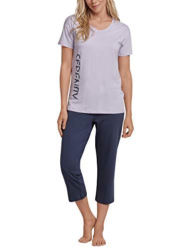 Schiesser Damen Zweiteiliger Schlafanzug, Blau (Lavendel 809), 42 (Herstellergröße: 042) -