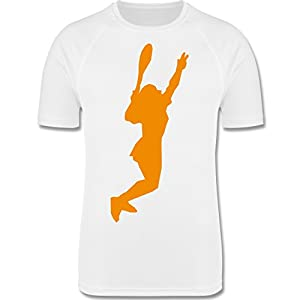 Sport Kind – Tennis gelb – atmungsaktives Laufshirt/Funktionsshirt für Mädchen und Jungen