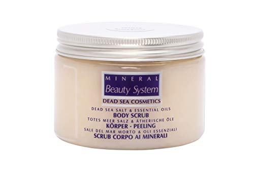 Original Totes Meer Salz Und Öl Body Scrub, 300 Ml Körperpeeling (White Blossom) Aus Israel By Mineral Beauty System - Duschpeeling, Gesicht Peeling, Anti Cellulite, Sauna-Salz