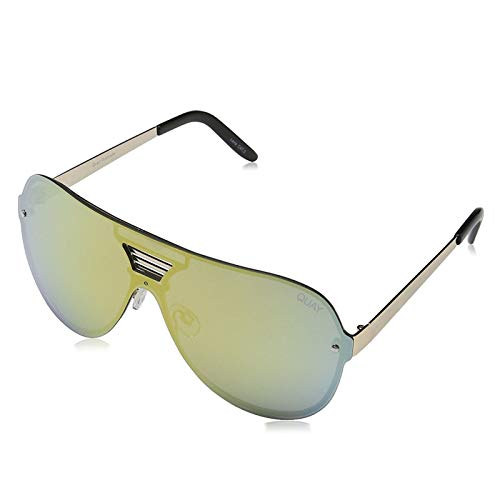 Quay Australia Damen Sonnenbrille SHOWTIME sunglasses gold/gold