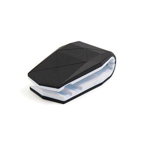 Preisvergleich Produktbild sourcingmap® Weiß Nilpferd Mund Design Klammer Doppel Selbst klebend Montage Handy Halter Gerüst