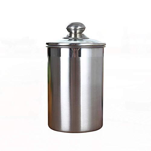 Lagerbehälter, Umwelt- und Gesundheitsschutz-Edelstahl-Lebensmitteldichtungsdose für Küche, Speisekammer, Organisation, Kaffee, Bohnen und Teeblätter,XL (Lagerbehälter Organisation)