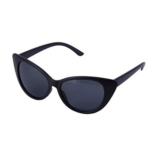 Jasnyfall Mode Frauen Damen Katzenauge Klassischen Vintage-Stil Rockabilly Sonnenbrille Brillen Weibliche Brillen Zubehör (Black & Grey)