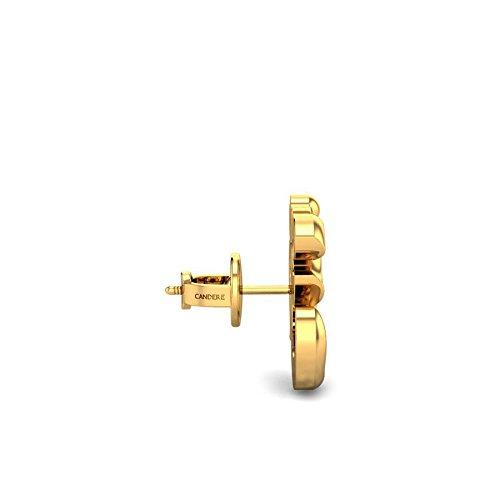 3ee1cc4da Candere By Kalyan Jewellers 22k (916) Yellow Gold Aakaksha Om Earrings for  Women