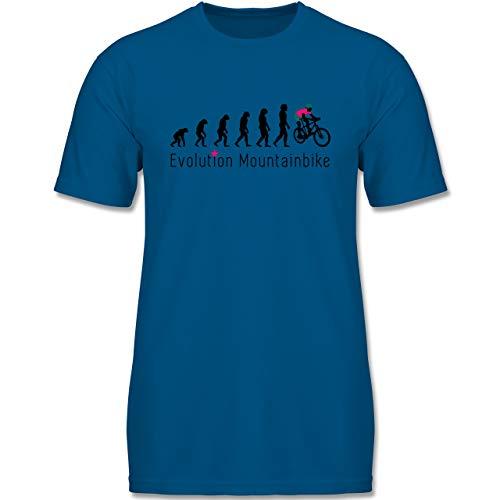 Evolution Kind - Mountainbike Evolution - 98-104 (3-4 Jahre) - Royalblau - F140K - Jungen T-Shirt -