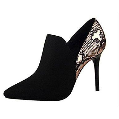Moda Donna Sandali Sexy donna tacchi tacchi Estate Felpa casual Stiletto Heel altri nero / rosa / rosso / mandorla / Khaki Altri gray