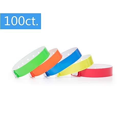 più recente e6a12 5cb74 Ouchan Braccialetti di colori assortiti in plastica, confezione da 100, per  eventi, discoteca, feste, festival, Multicolore