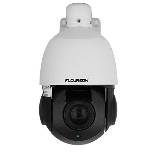 FLOUREON 1080P Dome IP Kamera PTZ Überwachungskamera, ONVIF P2P IP Cam, Nachtsicht Wasserdicht Sicherheitskamera, IR-Cut Bewegungsmelder