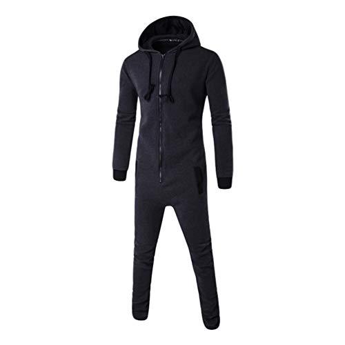 Nisengs uomo stampato tutina hoody tutti in uno cerniera lampo felpa con cappuccio tuta pigiama tuta 16#marina militare 2xl