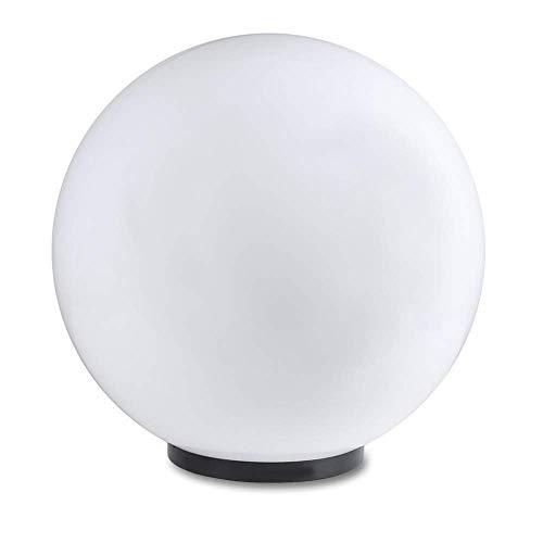 Kugelleuchte 50 cm Ø, weiße Gartenlampe, Außenleuchte, strahlend schöne Deko für Innen & Außen, Gartenbeleuchtung, Gartenkugel für Energiesparlampen E27 & LED - 230 V & 23W, Kugellampe mit IP44