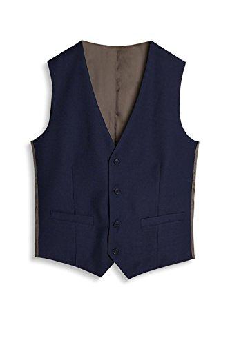 ESPRIT Collection Herren Anzugweste Blau (Navy 400)