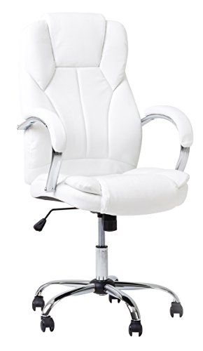 Bürodrehstuhl Chefsessel ELEGANCE Schreibtischstuhl Sessel aus hochwertigem Kunstleder belastbar bis 130 kg Wieß