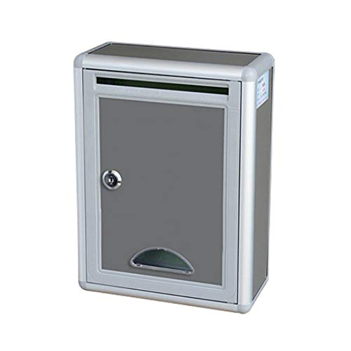 B Blesiya Hochwertiges Edelstahl Briefkasten Wandbriefkasten Briefkastenanlage Postkasten