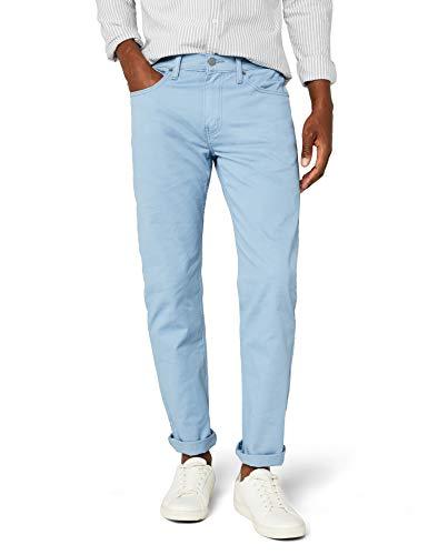Levi's Herren Tapered Hose 502 Regular Taper, Blau (Mock Blue soft wash Twill Wt 0107), W34/L32 - Five-pocket-stretch-twill