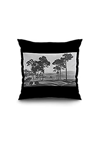 Pebble Beach, California - Golf Course Coast View - Vintage