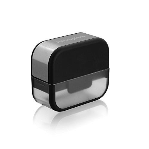 MICROPLANE Speciality Serie 48907 Knoblauchschneider 9 x 8 x 4 cm Edelstahlklingen/ schwarze Applikationen
