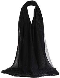 9e6f389c7c89 AIMEE7 Écharpe Femme Automne Hiver Solide Couleur Longue Foulards Chic  Vintage Grand Châle Hijab Élégant(