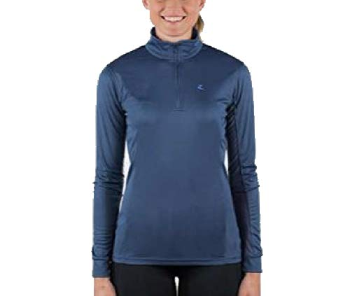 horze Trista Damen Langarmshirt UV Ice Fit, Indigo Dark Blue/Powder Blue, 38EU
