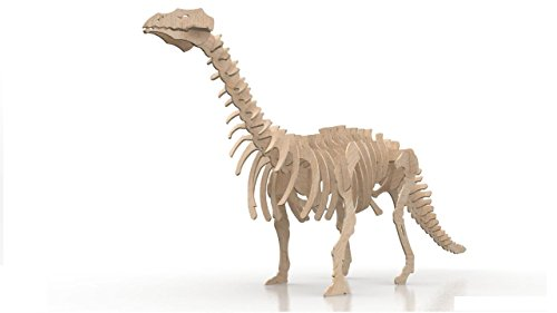 Impressiona Brontosaurio, maqueta de Madera Cortada a Láser. Puzzle 3D. Se Vende desmontado.