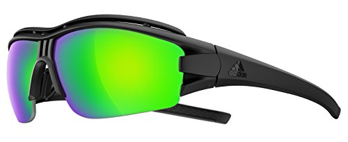 Adidas Brille evil eye halfrim pro ad07 - 9100 black matt green mirror (Large)