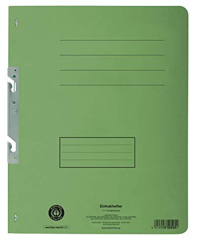Exacompta 352525B Einhakhefter (Recycling-Karton, voller Vorderdeckel, Beschriftungsfeld, DIN A4) 1 Stück grün -