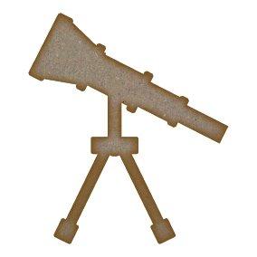 Telescopio corte láser Craft MDF espacios blanco