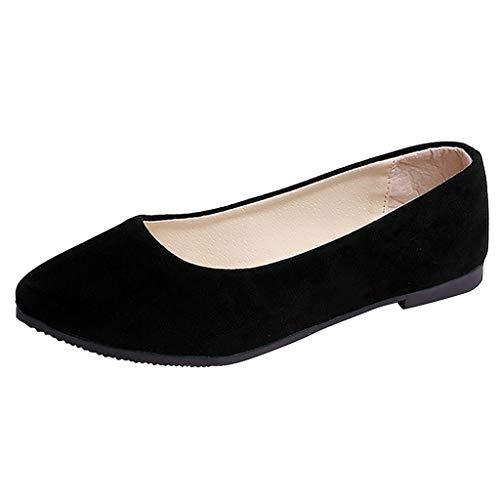 B-commerce Damen Leopard Plus Size Slip On Flach Komfort Freizeitschuhe Einzel Schuhe Arbeitsschuhe (Plattformen Sandalen Stiefel 2)