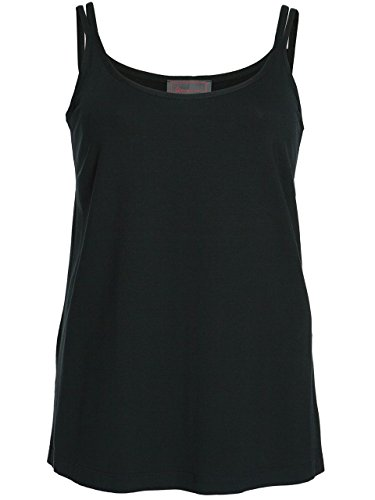 efcce2c3350f4a Sempre Piu by Chalou Damen Sommer Spagettiträger Träger Top Rot xxl  Übergröße Marken Shirt Schwarz