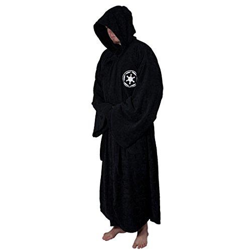 Star Wars Sith Imperium Bademantel, schwarz, one-size, Standard, Schwarz (Kapuzen-robe Star Wars)