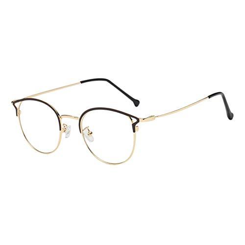 Goyajun Metall Oval Frame Anti Blau Licht Gläser - UV Schutz Phones Video Spiel Brille Cat Eye Rimmed Goggle für Männer Women