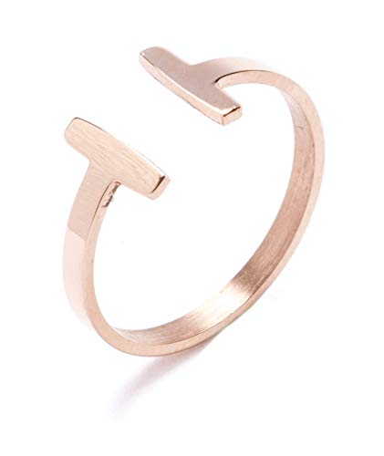 Happiness Boutique Damen Titan Minimalist Offener Ring in Rosegold Minimalist Schmuck